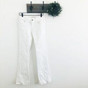 J Brand White Flare Heartbreaker Jeans 27